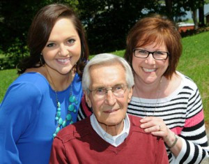 It's been nearly seven years that Duane Wachholz, Nisswa, was diagnosed with Alzheimer's. He's pictured with his daughter, Bailey (left), and his wife, Pam. Both women serve on the Planning Committee for the Walk to End Alzheimer's and they also speak to various groups about the disease. Contributed photo