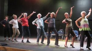 Dancers prepare for the upcoming Geritol Frolics. Photo by Jan Stadtherr