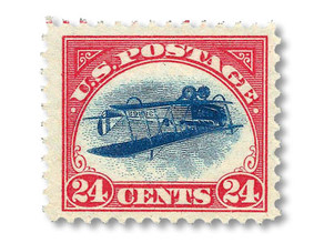 Country Views: History of America, on a stamp
