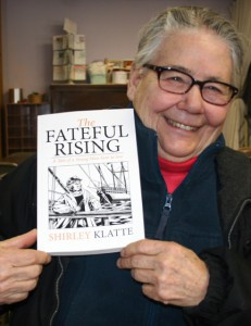 "Shirley Klatte of Kimball and her book, ""The Fateful Rising."" Contributed photo"
