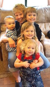 Brenda Sargent, of Glenwood, with four of her five grandchildren. When she was diagnosed with ovarian cancer, she was worried she would never get to meet her grandchildren. Contributed photo