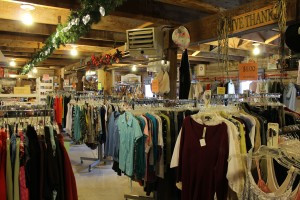 Scenes from Country Consignments, both inside and out. Photo by Nancy Leasman.