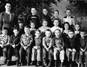 Ferne Nelson and her first-grade class, Dunnell Grade School, 1948-49.