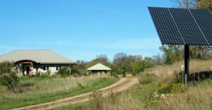 Solar is just one of the ways the Gooch family has turned their home into a zero-energy home. Photo by Carol Stender
