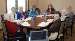A group of ladies at Ridgewood Villa come together for a Bible study.  Photo by Jim Palmer