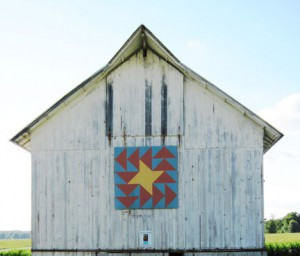 Barn quilts like this one can be found throughout eastern Iowa. Photo by Karen Flaten