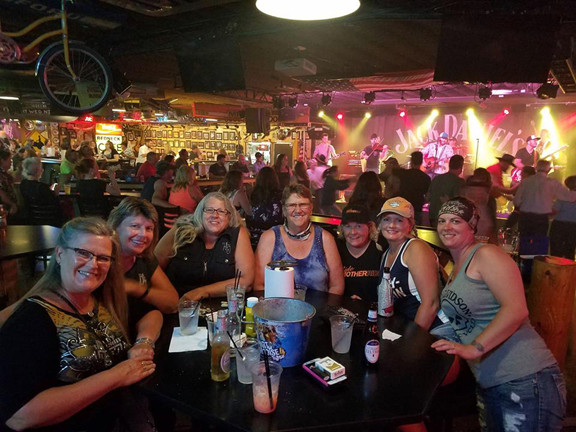 """It isn't just riding — a regular part of the International Sewing Club """"meetings"""" is getting together to visit, like this stop at an establishment near St. Cloud. Contributed photo"""