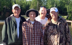 Ron Sanders (right) with his sons Doug and Bruce, and grandson, Adam. Ron was a millionaire a decade ago and lost it all. Along the way, he found what is most important in life.
