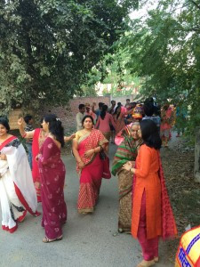 Indian women gather in traditional colors. Contributed photo