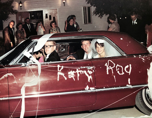Roger and Kathy Monson on their wedding day, Aug. 19, 1967, with the 1963 Chevy Impala SS. Contributed photo