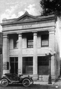 The first new bank building was built in 1906 and served as Pope County State Bank until 1971. It is currently used as a law building and is located next to the current Eagle Bank building. Photo contributed by Faith Mills.