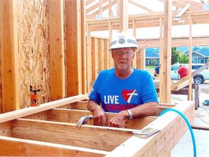 Walter Lehrke, of Gibbon, likes to explore new places. Last summer, he took his 3-wheel motorcycle on a road trip and helped at a Habitat for Humanity work site in Montana.   Lehrke has traveled more than 78,000 miles on his Trike since 2001, including 5,000 miles on his drive to Montana.               Contributed photo