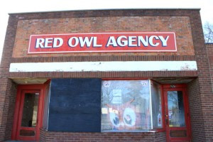 The original Red Owl Agency food store in Stewart being renovated by volunteers interested in restoring the vacant building into a community center, museum and small library for the small town residents.  Photo by Steve Palmer