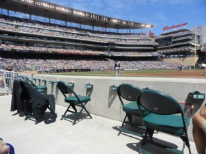 Even dugout seats are accessible, and mixed in with comfortable companion chairs.