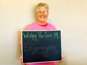 The caregivers recently told us what they like about working at Comfort Keepers. Here is Marie's reply.