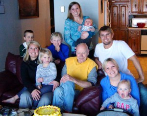 Heidi's grandpa pictured with his grandchildren. Contributed photo
