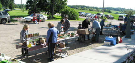 A new farmer's market has popped up in Holmes City, and it includes a free-will offering breakfast each Saturday morning.   Photo by Deb Schneider.