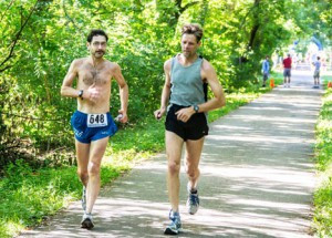 Steve DeBoer (left) and his good friend Brad Kautz, of Rochester. DeBoer started running at least a mile a day more than 44 years ago. Photo by Thom Woo