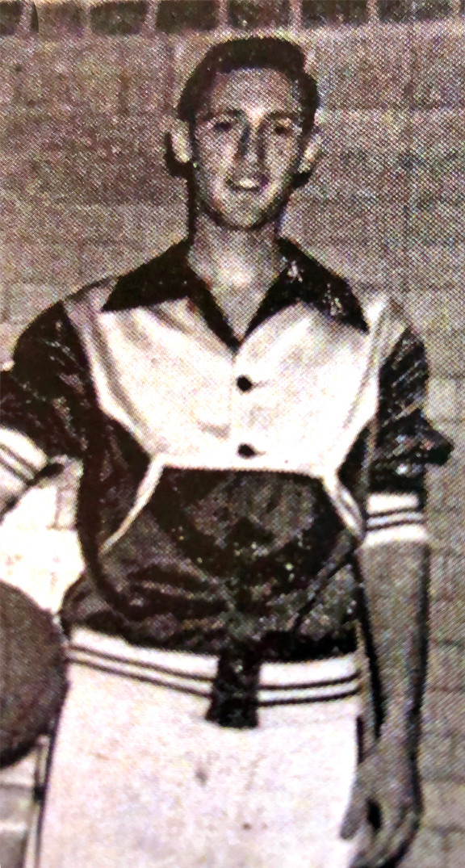 Gene Bjorklun his senior year playing basketball for Minden, Nebraska. Contributed photo