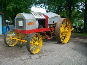 This antique tractor is one of the more interesting pieces at the Antique Power Collectors Club.     	         Contributed photo