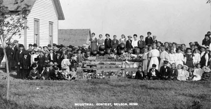 "In 1902, the first school fair in Minnesota was held at the Nelson School in Nelson. Students brought their crops, baking goods and sewing samples to display. ""Dad"" Erickson arranged for a judge,  and prizes were donated from area businesses. Contributed photo from Douglas County Historical Society"