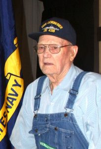 Stanley Mortenson was honored at a Navy Salute in Litchfield along with fellow Litchfield Navy man Bruce Cottington in September.