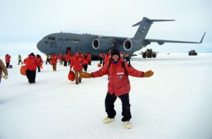 Jais Gossman, of New London, landed in the South Pole in November 2013. He spent about a year at the Amundson-Scott South Pole Station. Contributed photo