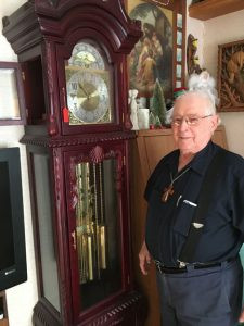 Lawrence Kaas, 83, of Sauk Centre serves as a deacon at area Catholic churches. He also operates a clock repair shop.  Photo by Allison Norgren
