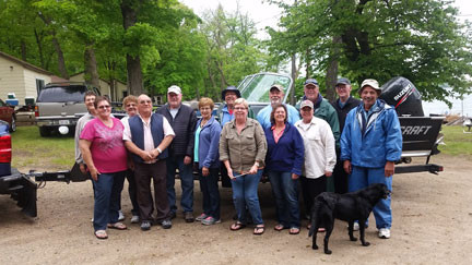 One generation of the Both of Reunion is pictured at this year's reunion held near Dent. This year,  more than 60 people attended, representing nine states. Contributed photo