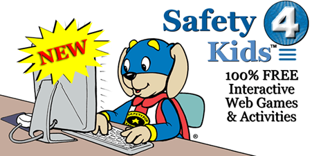 Safety 4 Kids, free interactive web games and activities