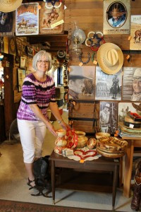 Cindy Haffner, owner of Country Consignments. Besides the great selection of consignment items, there are hostas and whistling frog and butterfly garden. Photos by Nancy Leasman.
