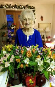 Josie Vinar at her 100th birthday party in  December. Contributed photo