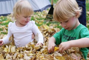 playinginleafpile