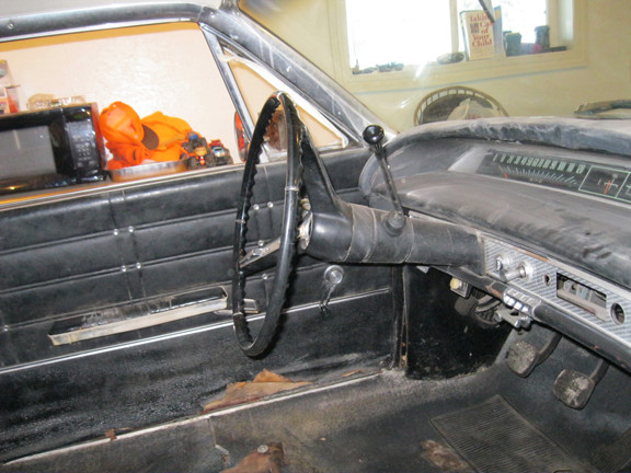 The before and after photos of 1963 Chevy Impala's interior after it was restored by Mark Burns, who was the last person to own the vehicle before selling it back to the Monson family. Contributed photos
