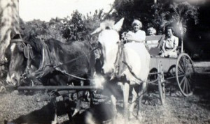 Helen and her neighbors in Cuba. Contributed photo