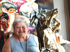 Sculptor finds inspiration in 1931 roadside discovery