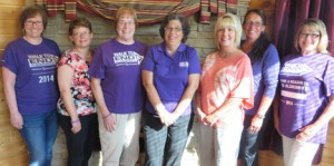 The Planning Committee for the Brainerd Lakes Area Walk to End Alzheimer's recently met to continue finalizing plans for the seventh annual walk to take place on Saturday, Sept. 26, at the Northland Arboretum in Brainerd. Members are (l to r) Pam Wachholz, Billie Lindstad, LouAnn Owens, Brenda Conley, Julie Florell, Arlene Jones, and Ann Powers. Not pictured are Bailey Wachholz, Jenni Christensen, Billie Lindgren, Laura Dilley, Sarah Peters, Tammy Jo Johnson, and Sara Speer. Photo by Jan Stadtherr