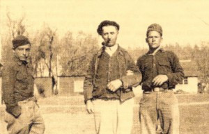 Italian POWs with American foreman, George Taylor in the middle. Photo courtesy of Dorothy Steinbeisser