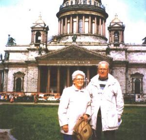 Barbara and Rod Ebersviller, on a trip in Russia.