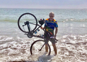 Coast to coast bike ride, inspired by his son