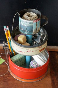 Old tins become useful again.