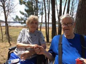 Don and Gladys Anderson are together again at their home by the lake thanks to support provided by Knute Nelson Home Care. Photo by Stacy Johnson, community liaison Knute Nelson Home Care