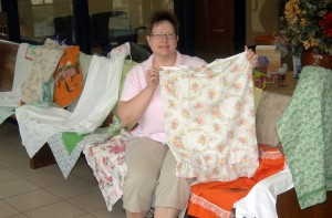 Nona Anderson, of Hutchinson, along with other ladies from the Peace Lutheran Church in Hutchinson, sewed 67 pillowcase dresses to be donated to the girls of earthquake-stricken Haiti. Nona stitched up nearly half of the dresses.