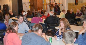 Friends and family come together each year for the bouja, served in the Wollak's garage. Contributed photo