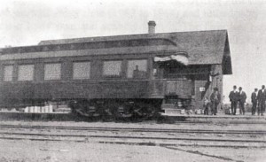 Train passenger car as it leaves the Ogilvie Depot. Contributed photo