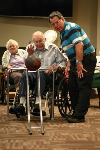 The Mother of Mercy campus gives residents an opportunity to be as active as they like. A few of those activities (pictured above) include bowling. Contributed photo
