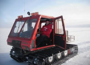 Grossman while driving a spryte at the South Pole. Contributed photo