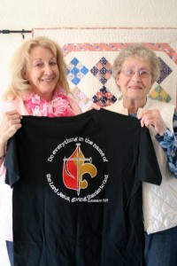 Diane, on the left, and Annie went to New Orleans this year to help the victims of hurricanes Katrina and Isaac.
