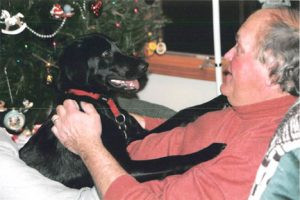 Joey with his owner, Randy Wehler. Contributed photo