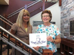Renita Thonvold (left) and Kathy Thonvold (right) are the co-facilitators of the new memory cafe in Willmar called Forget Me Knot. The cafe is located on the second floor of the Willmar Public Library. It is open for those with memory loss, including dementia and Alzheimer's, the second Tuesday and fourth Thursday of each month. Photo by Bev Ahlquist